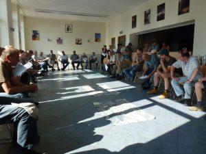 Réunion avec des exploitants des zones humides concernées par le projet